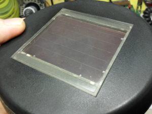 Solarzelle nach dem Polieren